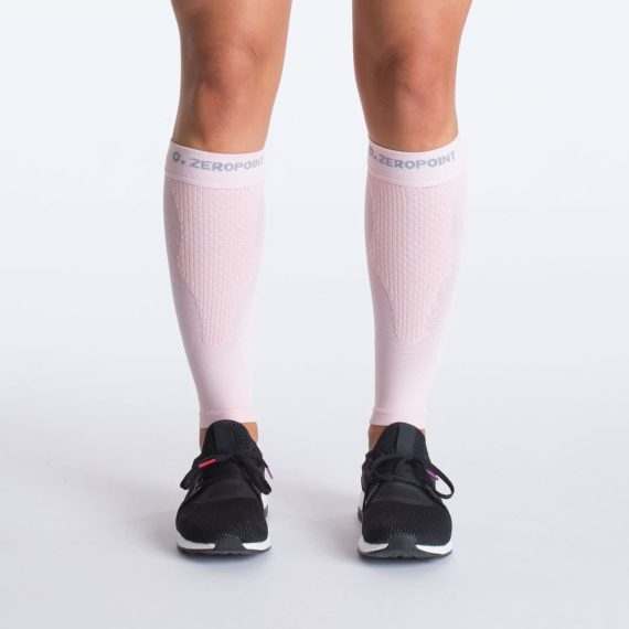 Team calf compression calf sleeve soft pink front Zeropoint