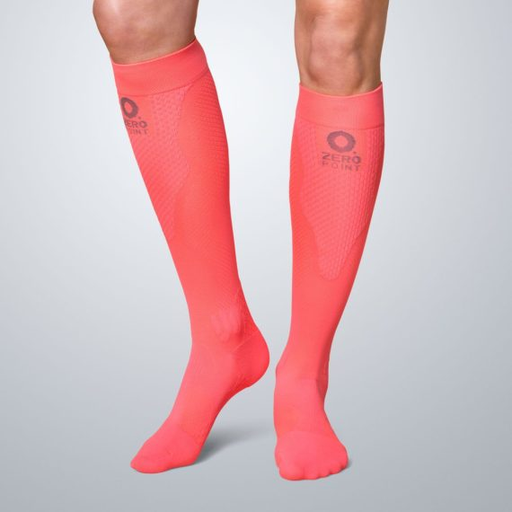 Team calf compression Intense coral 1 Zeropoint